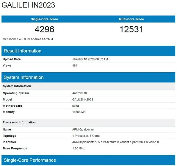 oneplus 8 pro on geekbench