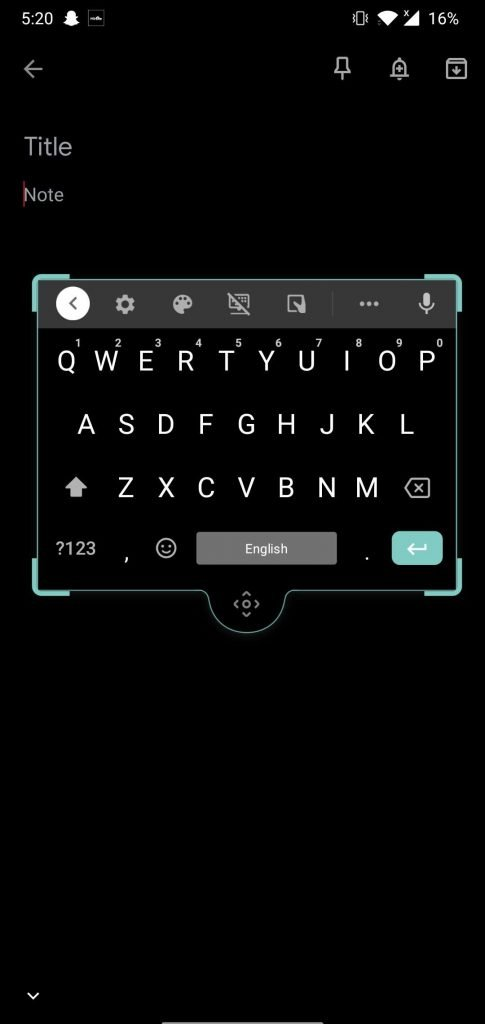Floating keyboard of the best android keyboard App